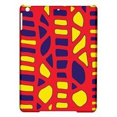 Red, yellow and blue decor iPad Air Hardshell Cases