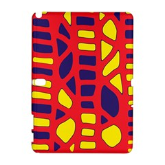 Red, yellow and blue decor Samsung Galaxy Note 10.1 (P600) Hardshell Case