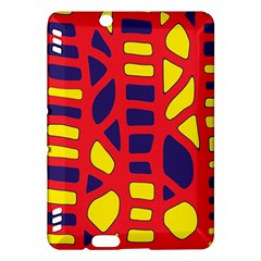 Red, yellow and blue decor Kindle Fire HDX Hardshell Case