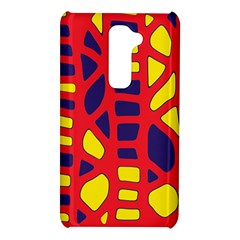 Red, yellow and blue decor LG G2