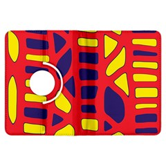 Red, yellow and blue decor Kindle Fire HDX Flip 360 Case