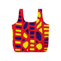 Red, yellow and blue decor Full Print Recycle Bags (S)