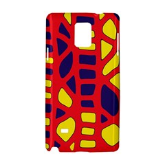 Red, yellow and blue decor Samsung Galaxy Note 4 Hardshell Case
