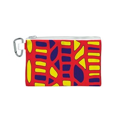 Red, yellow and blue decor Canvas Cosmetic Bag (S)