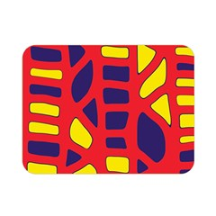 Red, yellow and blue decor Double Sided Flano Blanket (Mini)