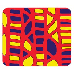Red, yellow and blue decor Double Sided Flano Blanket (Small)
