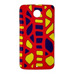 Red, yellow and blue decor Nexus 6 Case (White)