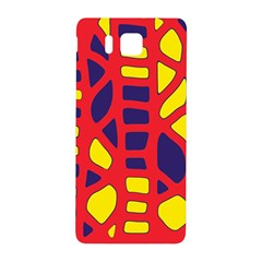 Red, yellow and blue decor Samsung Galaxy Alpha Hardshell Back Case