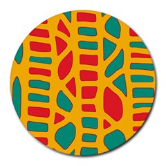 Abstract decor Round Mousepads