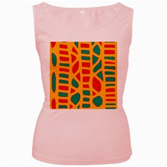 Abstract decor Women s Pink Tank Top