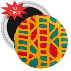 Abstract decor 3  Magnets (10 pack)