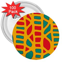 Abstract decor 3  Buttons (100 pack)