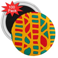 Abstract decor 3  Magnets (100 pack)