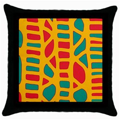 Abstract decor Throw Pillow Case (Black)