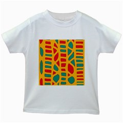Abstract decor Kids White T-Shirts