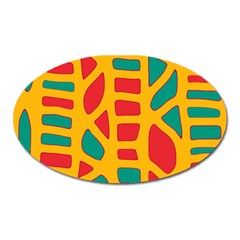 Abstract decor Oval Magnet