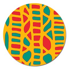 Abstract decor Magnet 5  (Round)