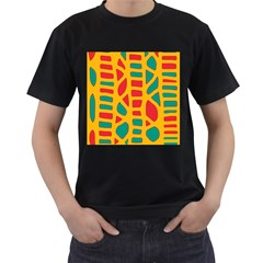 Abstract decor Men s T-Shirt (Black) (Two Sided)