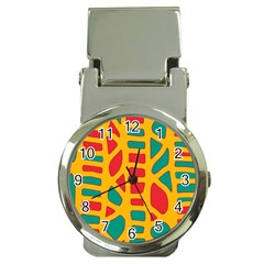 Abstract decor Money Clip Watches