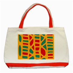 Abstract decor Classic Tote Bag (Red)