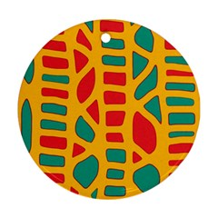Abstract decor Round Ornament (Two Sides)