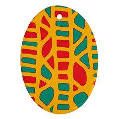 Abstract decor Oval Ornament (Two Sides)