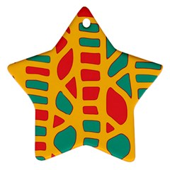 Abstract decor Star Ornament (Two Sides)