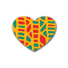 Abstract decor Heart Coaster (4 pack)