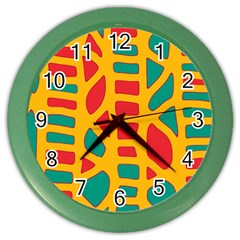Abstract decor Color Wall Clocks