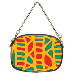 Abstract decor Chain Purses (One Side)