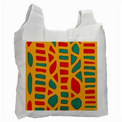 Abstract decor Recycle Bag (Two Side)