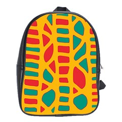 Abstract decor School Bags(Large)