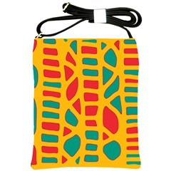 Abstract decor Shoulder Sling Bags