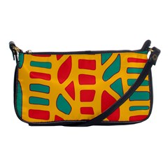 Abstract decor Shoulder Clutch Bags