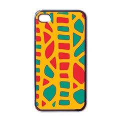 Abstract decor Apple iPhone 4 Case (Black)