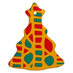 Abstract decor Christmas Tree Ornament (2 Sides)