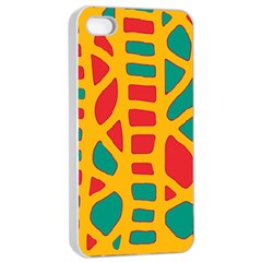 Abstract decor Apple iPhone 4/4s Seamless Case (White)