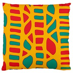 Abstract decor Large Cushion Case (Two Sides)