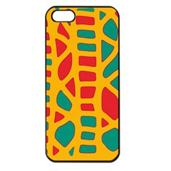 Abstract decor Apple iPhone 5 Seamless Case (Black)