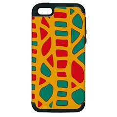 Abstract decor Apple iPhone 5 Hardshell Case (PC+Silicone)