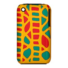 Abstract decor Apple iPhone 3G/3GS Hardshell Case (PC+Silicone)