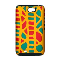 Abstract decor Samsung Galaxy Note 2 Hardshell Case (PC+Silicone)