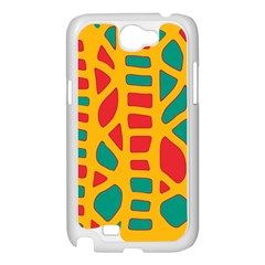 Abstract decor Samsung Galaxy Note 2 Case (White)