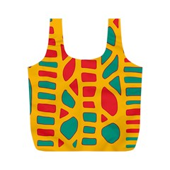 Abstract decor Full Print Recycle Bags (M)
