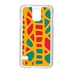 Abstract decor Samsung Galaxy S5 Case (White)
