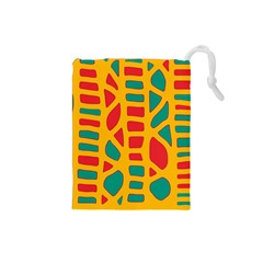 Abstract decor Drawstring Pouches (Small)