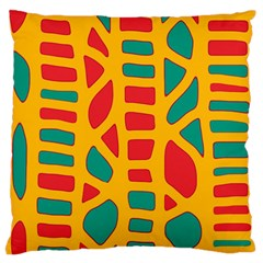 Abstract decor Large Flano Cushion Case (Two Sides)