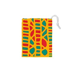 Abstract decor Drawstring Pouches (XS)