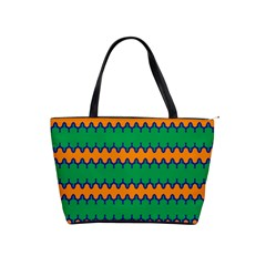 Orange green chains                                                                                            Classic Shoulder Handbag