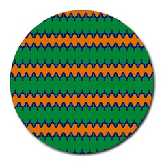 Orange green chains                                                                                            			Round Mousepad